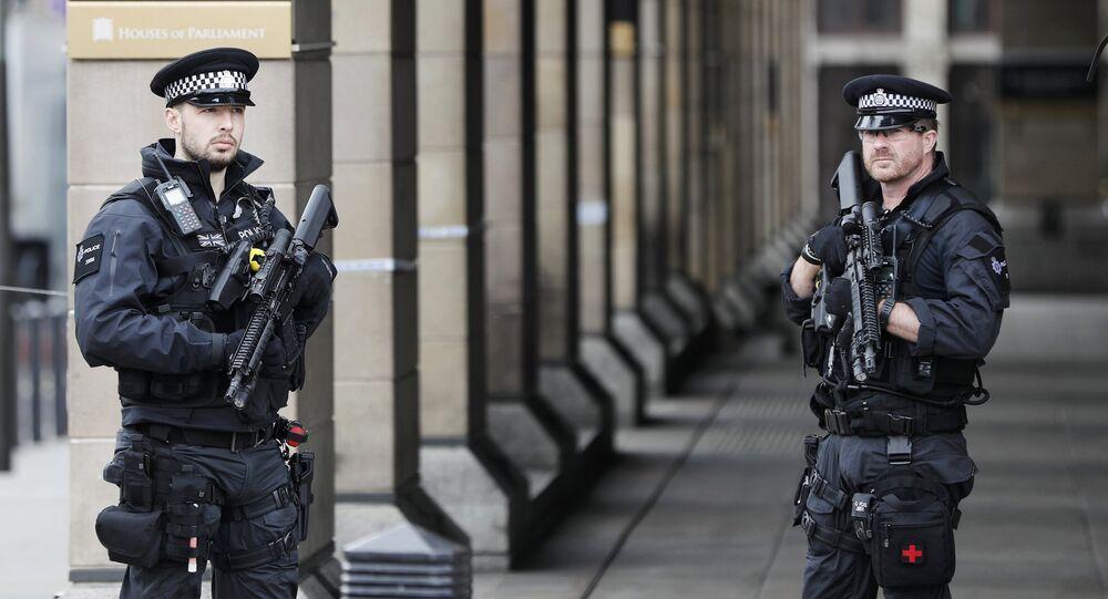 قوات الشرطة البريطانية في ويستمنستر، لندن، بريطانيا 23 مارس/ آذار 2017