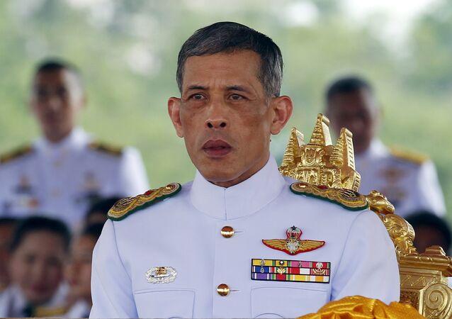 Thailand's Crown Prince Maha Vajiralongkorn watches the annual Royal Ploughing Ceremony in central Bangkok. (File)