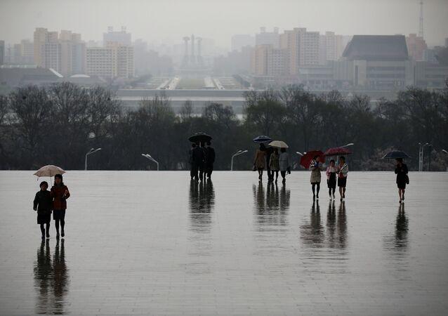 أمطار في بيونغ يانغ