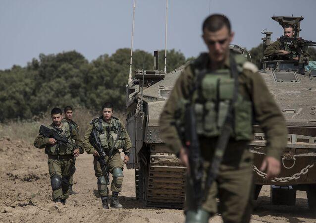 الجيش الإسرائيلي على الحدود مع قطاع غزة