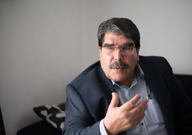 صالح مسلم أحد رؤساء حزب الاتحاد الديمقراطي الكردستاني