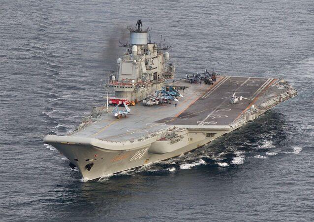حاملة الطائرات الروسية الأميرال كوزنيتسوف في المياه الدولية المقابلة لسواحل النرويج، 17 أكتوبر/ تشرين الأول 2016
