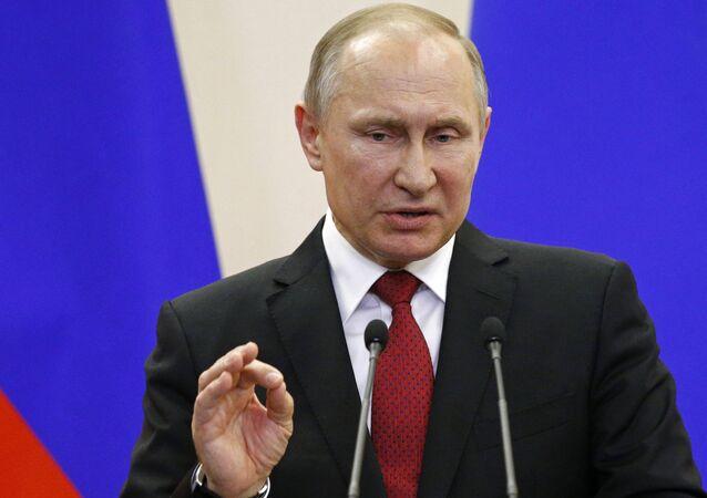 المؤتمر الصحفي للرئيس الروسي فلاديمير بوتين ونظيره التركي رجب طيب أردوغان