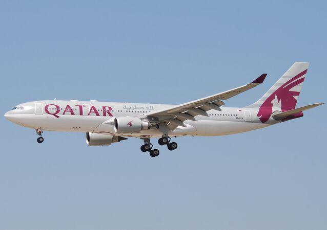 طائرة طائرة الخطوط الجوية القطرية