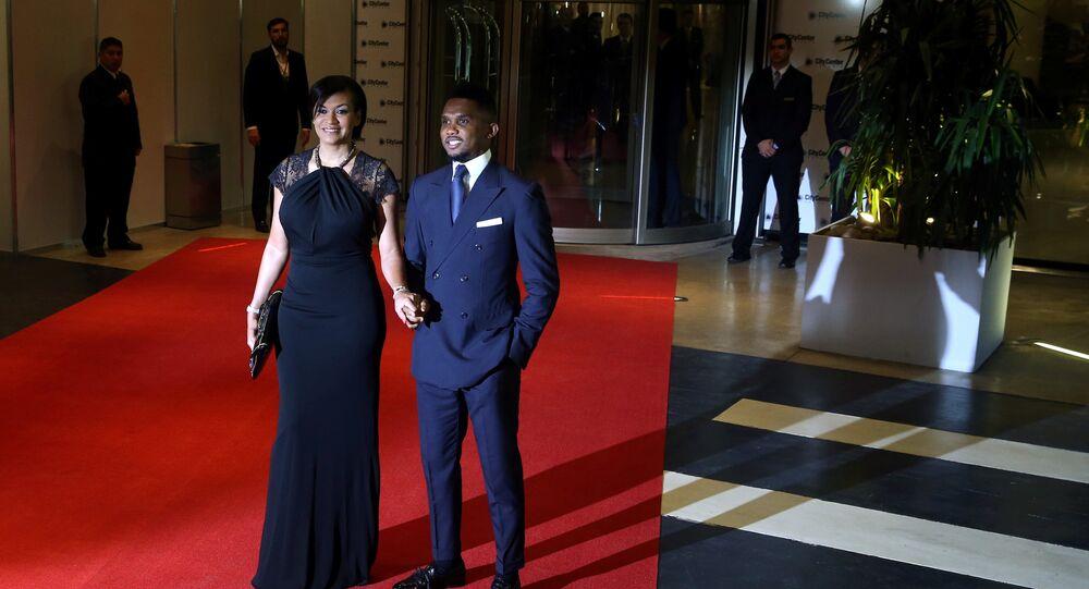 اللاعب الكاميروني إيتو و زوجته في حفل زفاف ليونيل ميسي