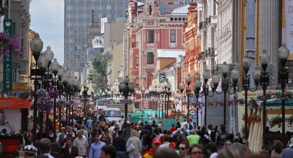 شارع أربات في العاصمة الروسية موسكو
