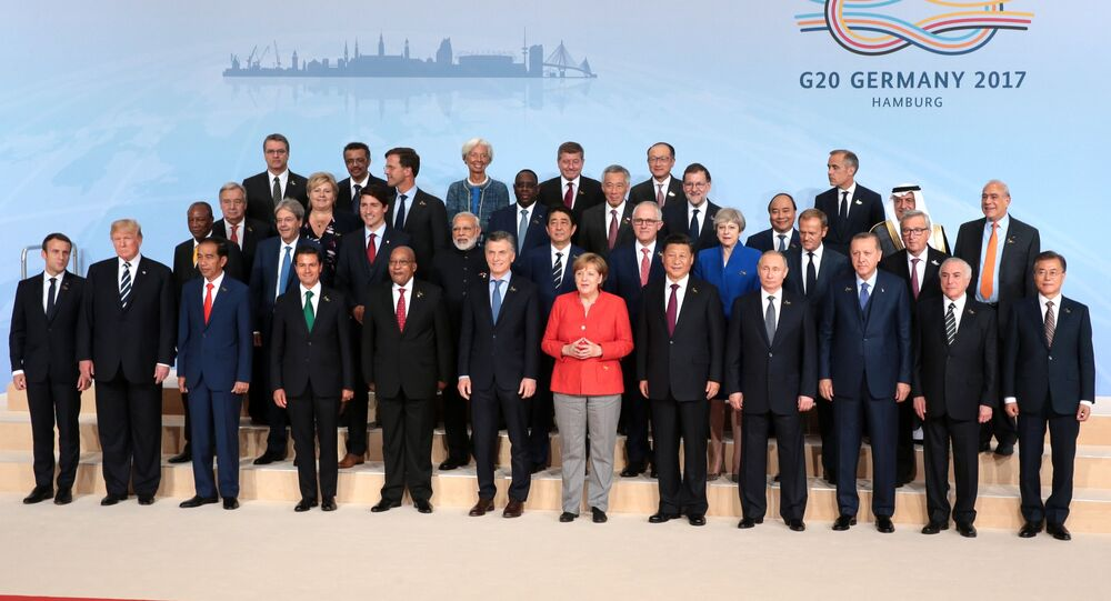 زعماء قمة العشرين في هامبورغ