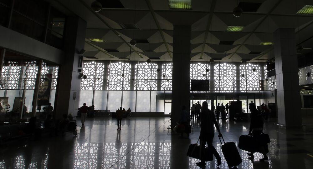 صالة الانتظار في مطار دمشق الدولي