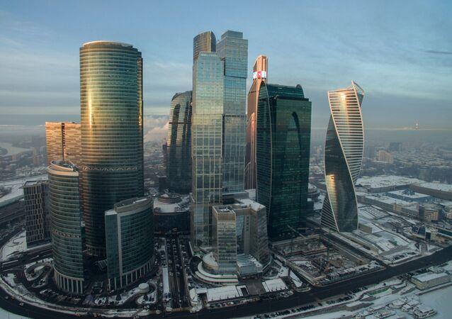 موسكو سيتي في الشتاء