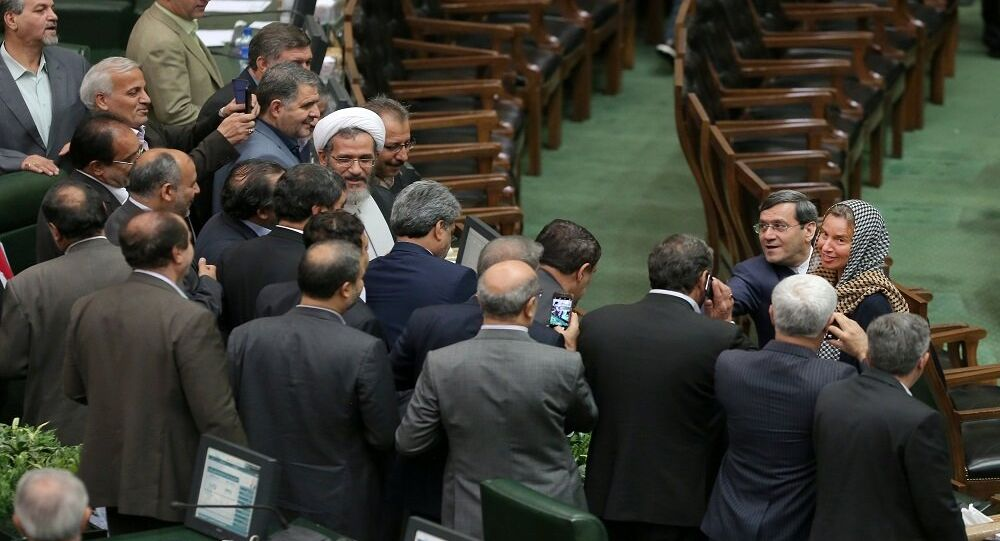 موغريني في البرلمان الإيراني