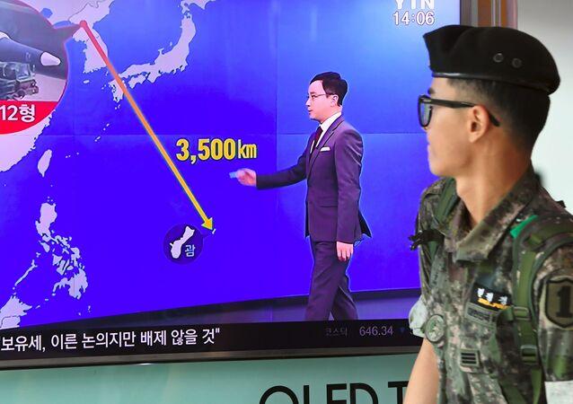 زيادة حدة التوتر بين الولايات المتحدة الأمريكية وكوريا الشمالية، سيؤول