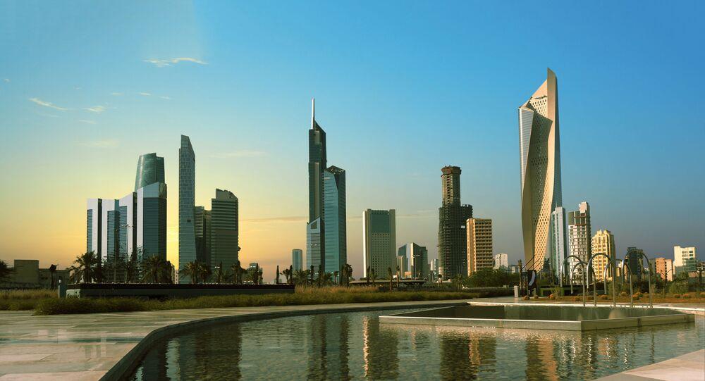 مدينة الكويت عند الغروب