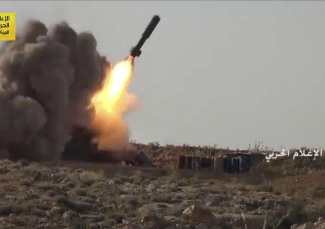 قوات المقاومة حزب الله تطلق صواريخ باتجاه إرهابيين على الحدود اللبنانية السورية،22 يوليو/ تموز 2017