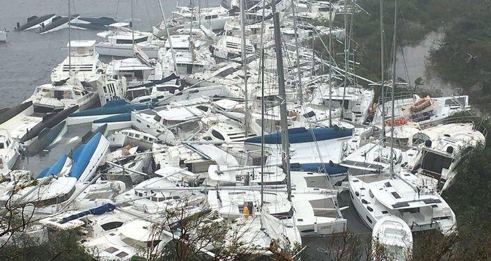 إعصار إيرما في جزر فيرجن آيلندز، 6 سبتمبر/ أيلول 2017