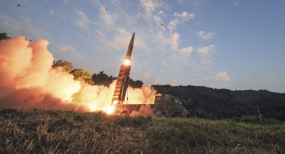 كوريا الجنوبية تطلق صاروخ باليستي Hyunmoo II، 4 سبتمبر/ أيلول 2017