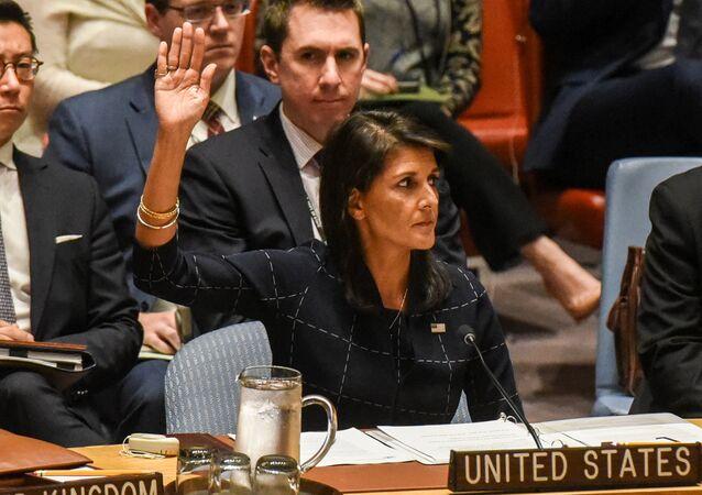 السفيرة الأمريكية لدى الأمم المتحدة نيكي هيلي