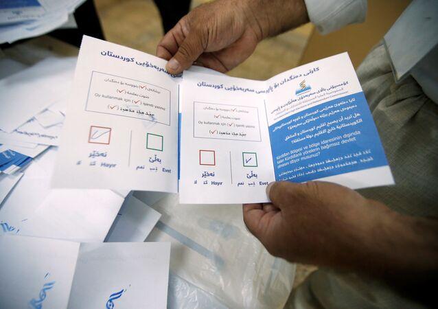 فرز الأصوات في استفتاء استقلال كردستان