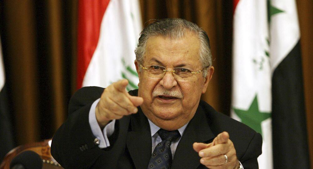 رئيس العراق السابق جلال الطالباني