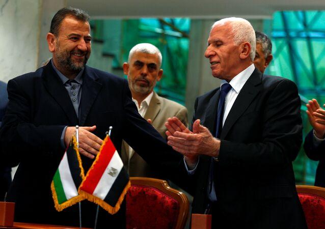 المصالحة الفلسطينية بالقاهرة