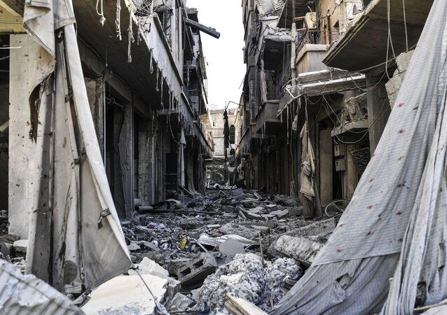 مدينة الرقة بعد تحريرها، سوريا 20 أكتوبر/ تشرين الأول 2017