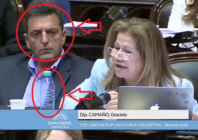 نائب أرجنتيني يحرك الأشياء عن بعد أثناء الجلسة البرلمانية