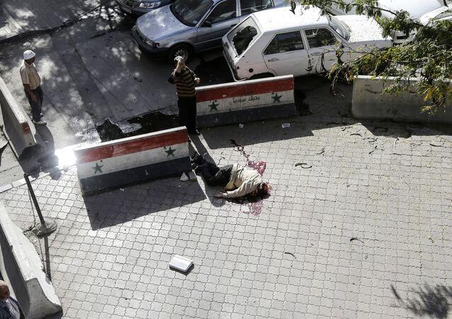 مكان سقوط قذاوف هاون في دمشق (صورة أرشيفية)
