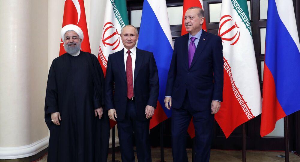 لقاء ثلاثي يجمع بوتين مع أردوغان وروحاني في سوتشي