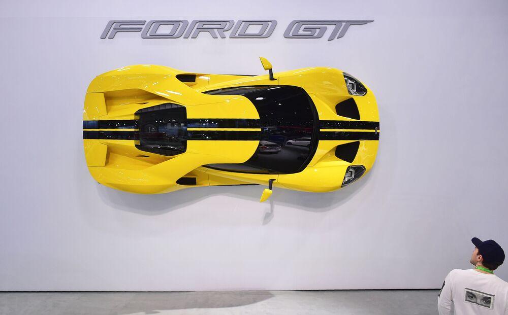 عرض السيارات لا أوتو شو 2017 في لوس أنجلوس - السيارة الجديدة Ford GT، كاليفورنيا 29 نوفمبر/ تشرين الثاني 2017