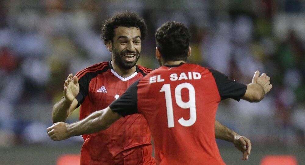 محمد صلاح مع منتخب مصر