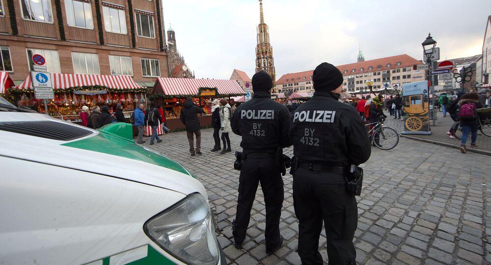 الشرطة الألمانية في السوق