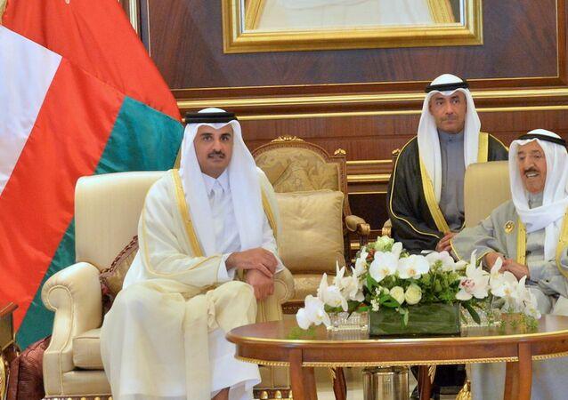 أمير قطر وأمير الكويت