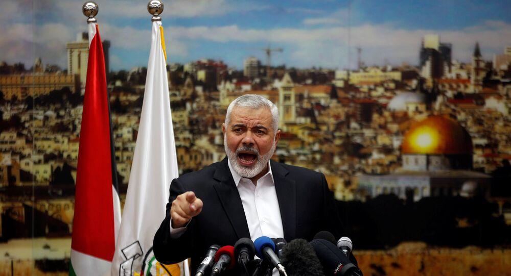 رئيس المكتب السياسي لحركة حماس إسماعيل هنية في غزة، قطاع غزة فلسطين 7 ديسمبر/ كانون الأول 2017
