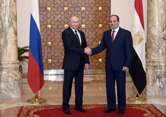 الرئيس الروسي فلاديمير بوتين والرئيس المصري عبد الفتاح السيسي