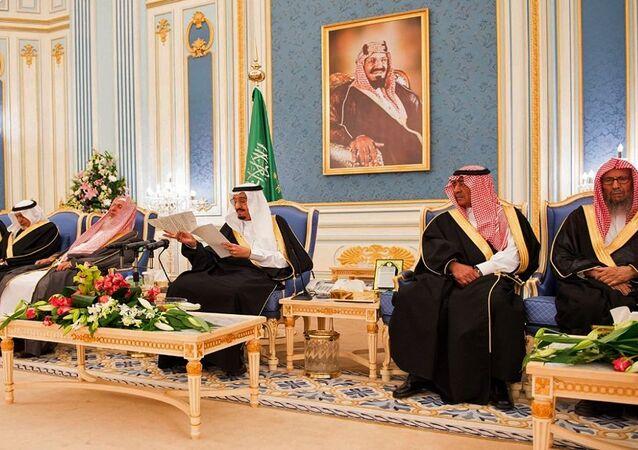 الملك سلمان في قصر اليمامة