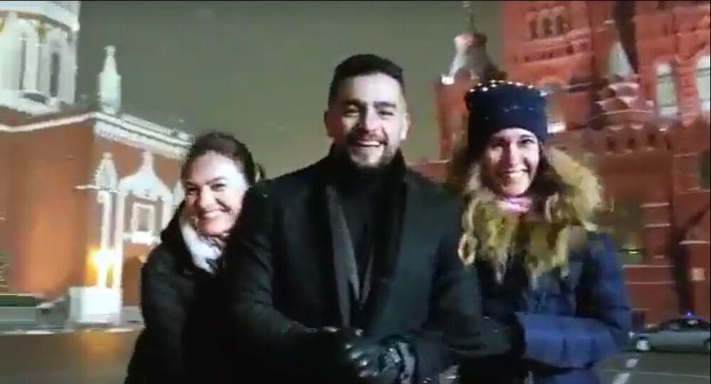 الممثل المصري هاني سلامة في العاصمة الروسية موسكو