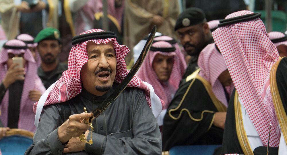 الملك سلمان يرقص العرض