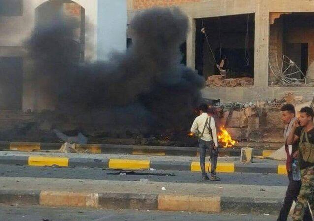 تفجير مقر مكافحة الإرهاب في عدن