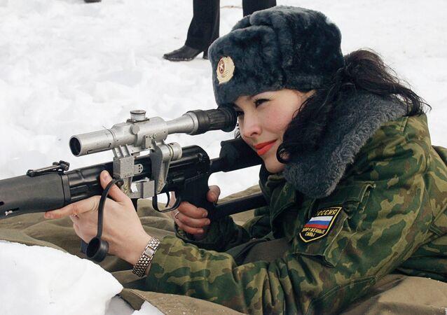 قناصة روسية في الجيش الروسي
