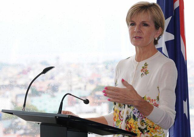 وزيرة الخارجية الأسترالية، جولي بيشوب