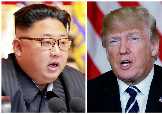 ترامب وكيم جونغ أون