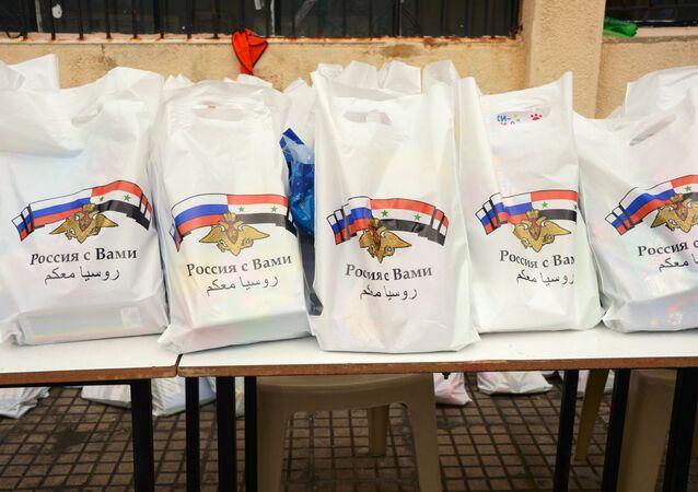 مساعدات إنسانية روسية في للسوريين