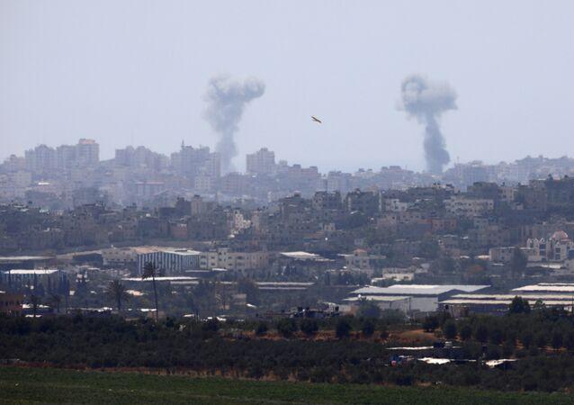 قصف إسرائيلي على غزة، 29 مايو/ أيار 2018