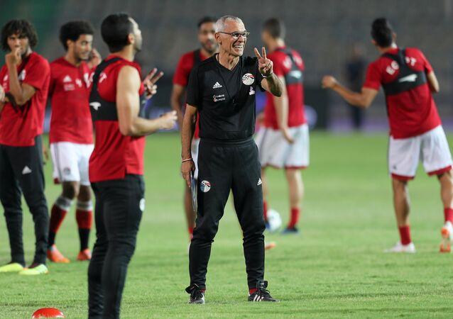 التدريب الأخير لمنتخب مصر قبل التوجه إلى روسيا