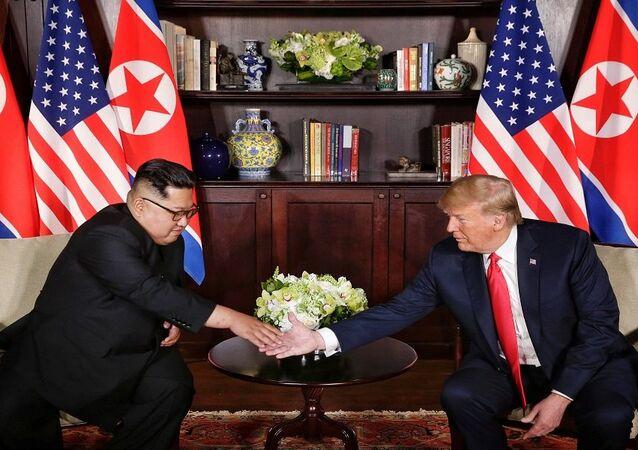 قمة الرئيس الأمريكي دونالد ترامب وزعيم كوريا الشمالية كيم جونغ أون في سنغافورة