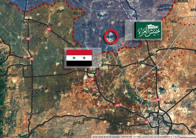 مئات الأمتار تفصل بين نقاط الجيش السوري والمسلحون الأجانب في اللطامنة