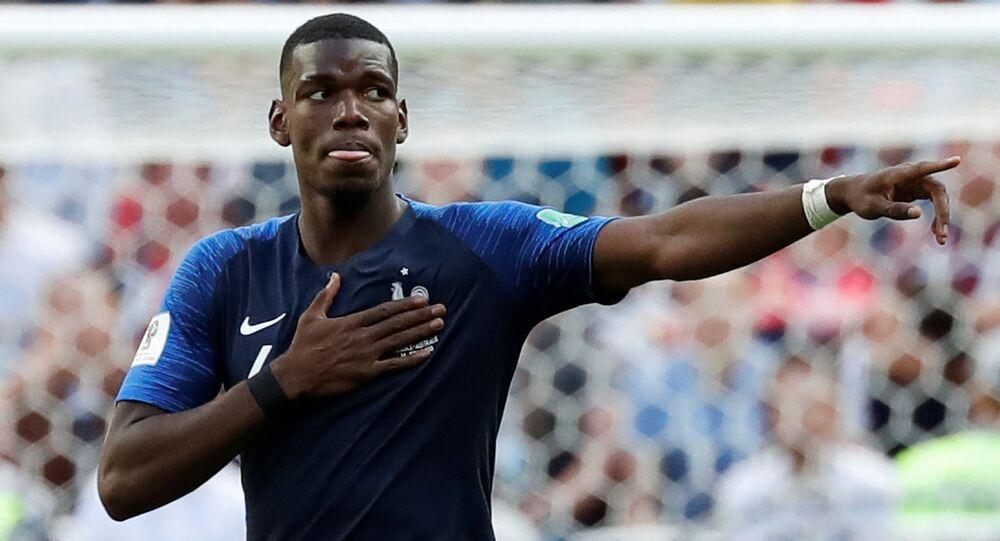 بوغبا من مباراة فرنسا وبلجيكا