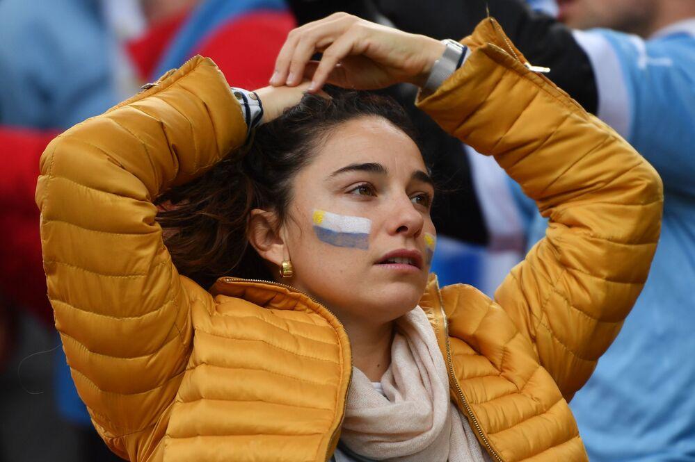 مشجعة فريق الأوروغوي