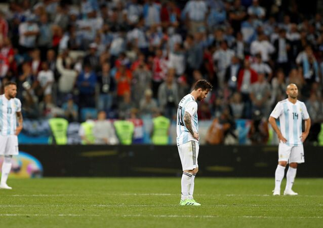 مباراة الأرجنتين وكرواتيا - ليونيل ميسي