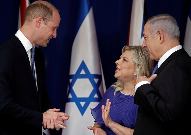 رئيس الوزراء الإسرائيلي بنيامين نتنياهو يستقبل الأمير البريطاني وليام في القدس الغربية