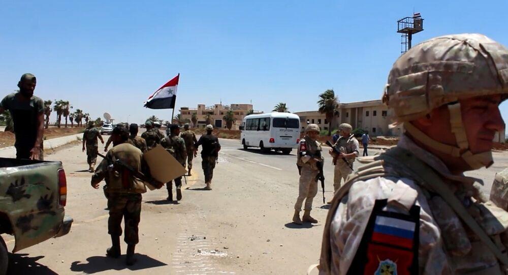 قوات روسية وسورية في الجنوب السوري - درعا